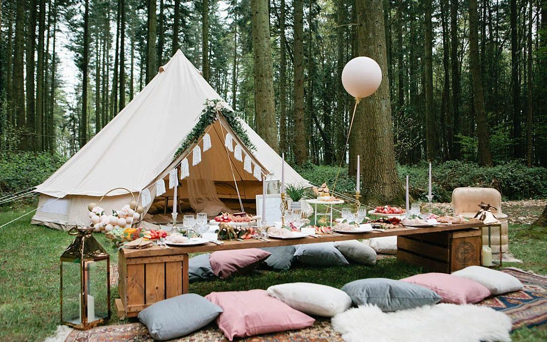 Luxe Picnic Grazing Table for a Woodland Boho Styled Shoot