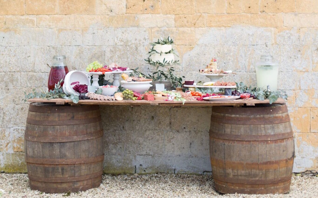 A Mediterranean Grazing Table for a Destination Wedding Inspired Styled Shoot