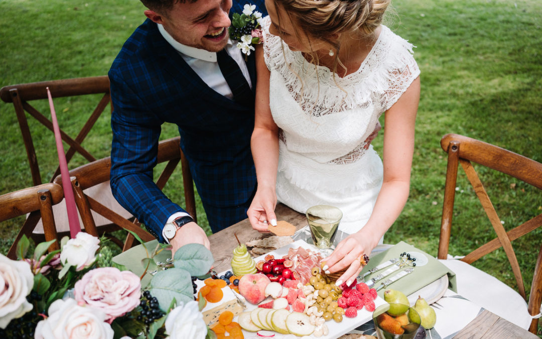 Sharing Platters for a Romantic Secret Garden Styled Shoot